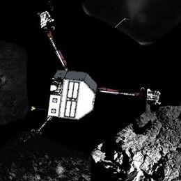 Philaes Position auf dem Kometen.