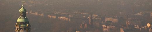 Smog in Ballungsräumen - wie hier beispielsweise in Leipzig. Foto Norma Neuheiser UFZ