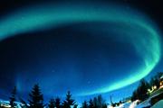 Polarlicht über Landschaft