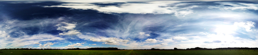 Wolkenbild über Segelflugplatz Hellingst/LVU