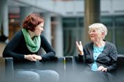 Berlin, 12.9.2014, Helmholtz-Gemeinschaft, Generationengespräch mit Eva Rosenbaum vom MDC und Dr. Brigitte Wittmann ehem. MDC